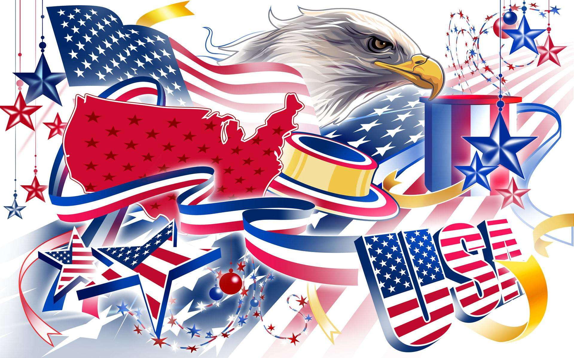 American Flag Eagle Wallpaper 008