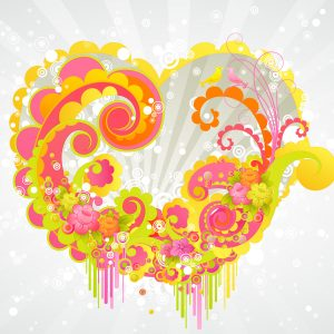 Hearth Love Vector Wallpaper 007 300x300
