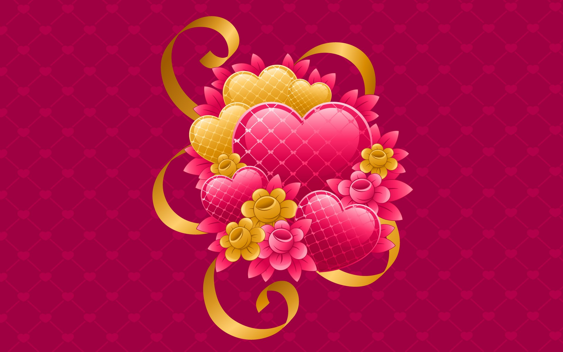 Hearth Love Vector Wallpaper 022