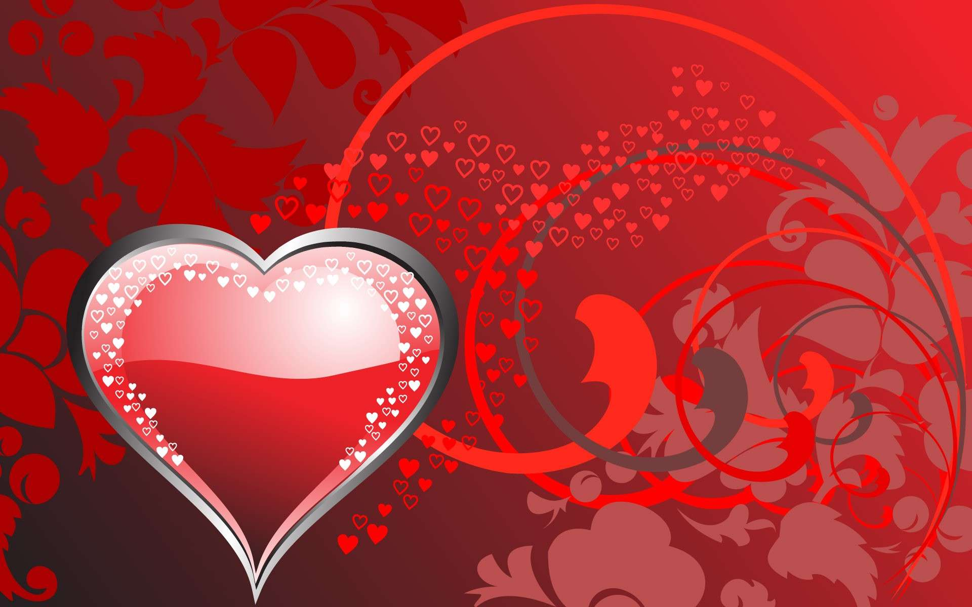 Hearth Love Vector Wallpaper 028