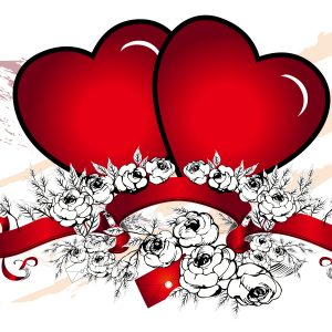 Hearth Love Vector Wallpaper 029 300x300