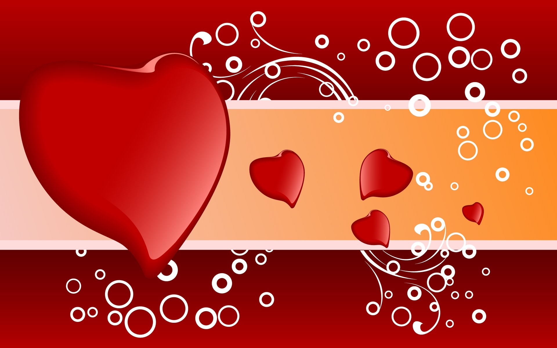 Hearth Love Vector Wallpaper 033