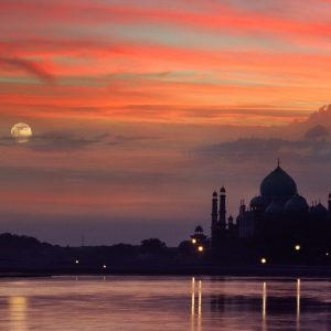 Sunset at Taj Mahal