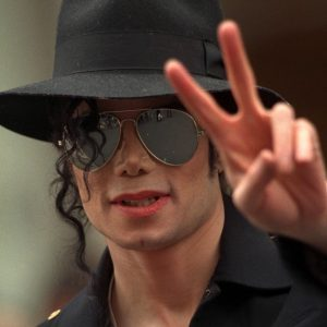 MICHAEL JACKSON MAKES HIS ENTRANCE AT THE GREVIN MUSEUM