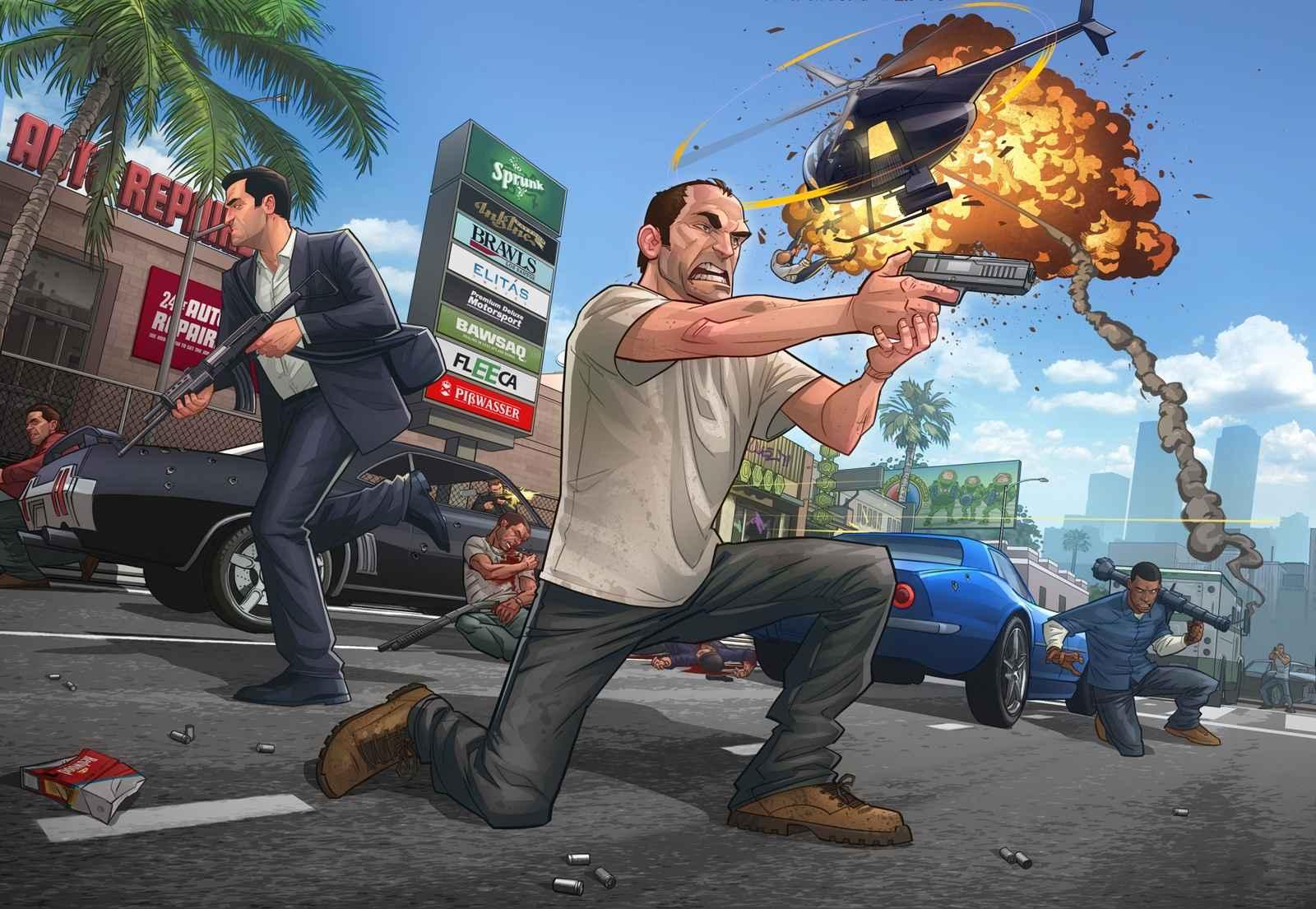 Game Grand Theft Auto V Wallpaper 056