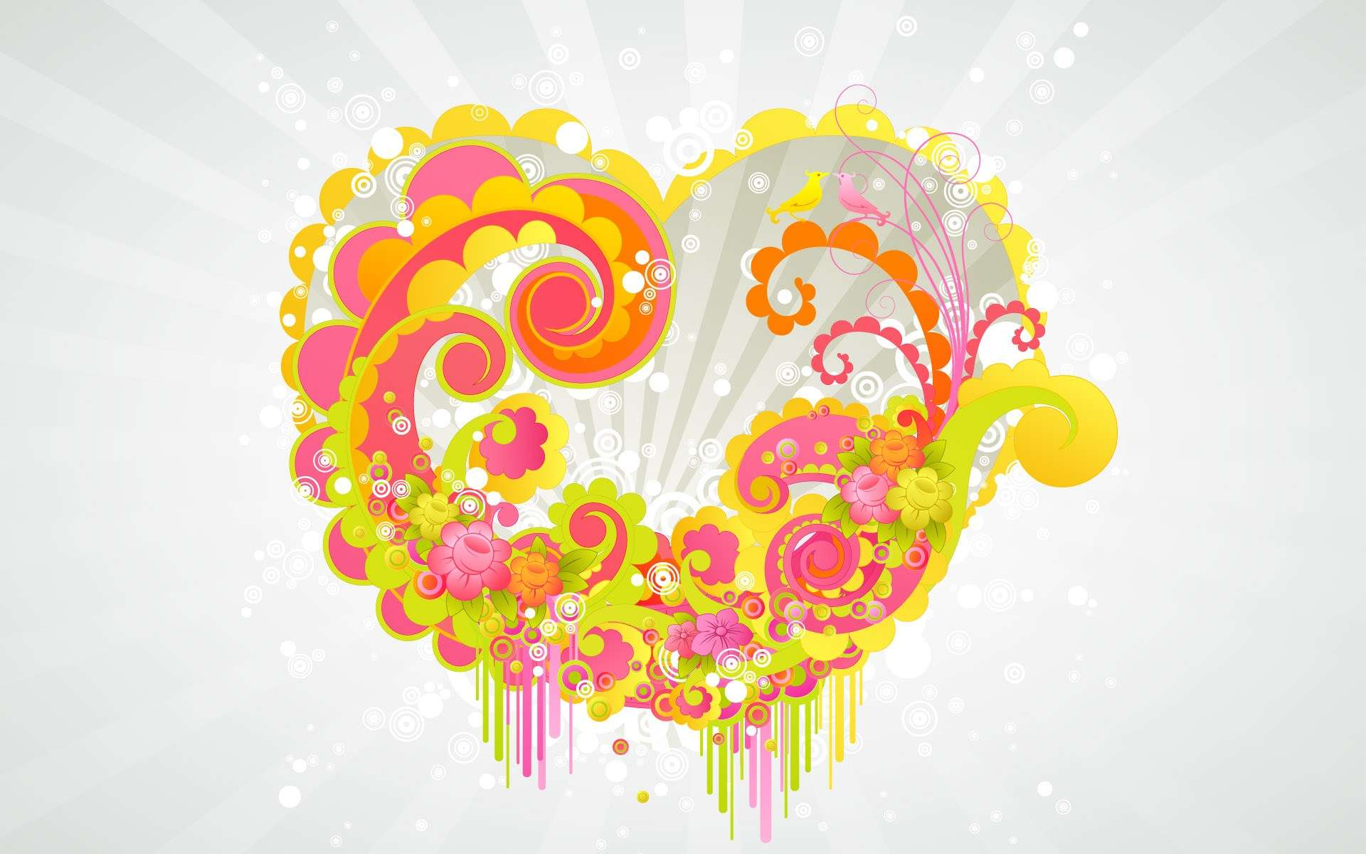 Hearth Love Vector Wallpaper 007