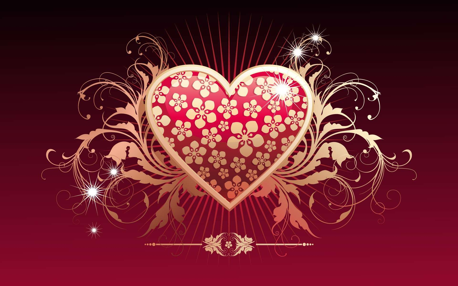 Hearth Love Vector Wallpaper 009