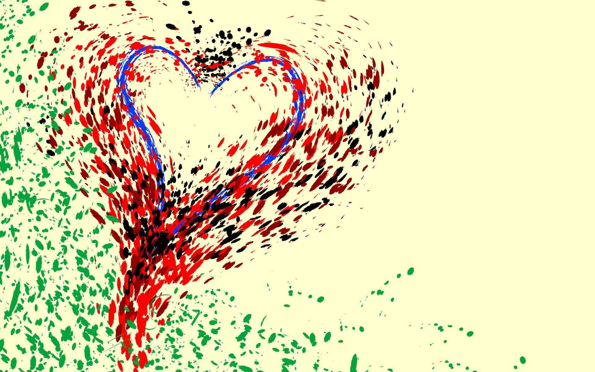 Hearth Love Vector Wallpaper 020