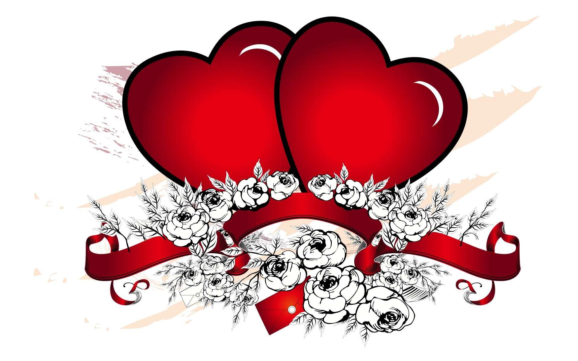 Hearth Love Vector Wallpaper 029